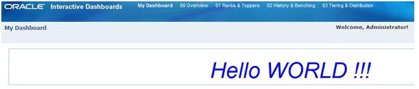 Hello Word In Dashboard