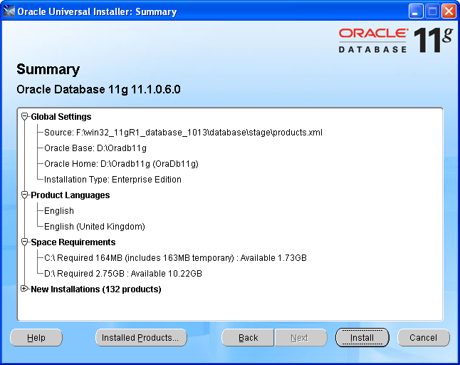 how to create database in oracle 11g step by step