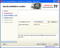 Oracle Fusion Middleware Installation7