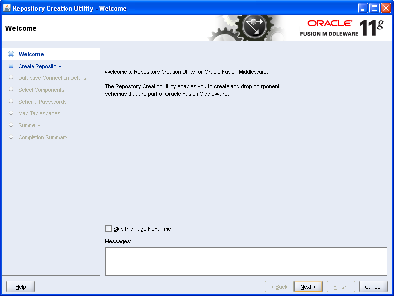 SOA - Repository Creation Utility (RCU) Installation (2/6)
