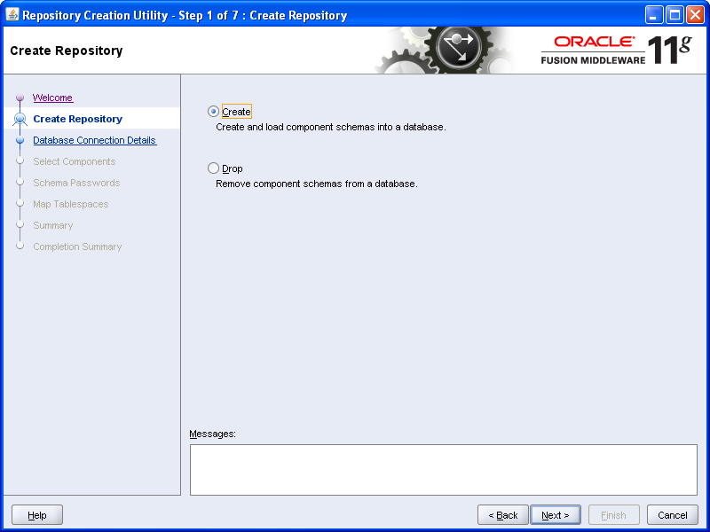 SOA - Repository Creation Utility (RCU) Installation (3/6)