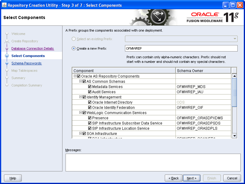 SOA - Repository Creation Utility (RCU) Installation (6/6)