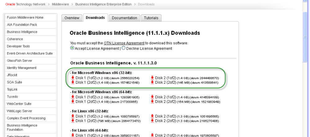 Oracle Business Intelligence Enterprise Edition(OBIEE) 11g Installation (1/6)